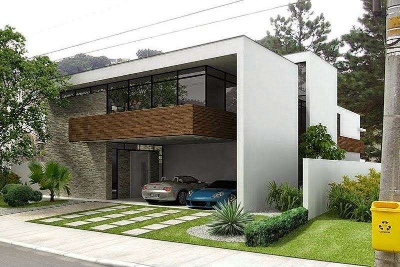 Fachadas de casas com vidro incolor verde azul fum for Fachadas contemporaneas de edificios