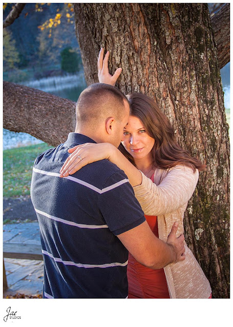 Downtown Lynchburg Rustic Fall Peaks of Otter Engagement
