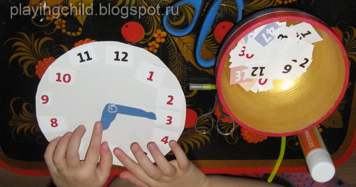 Как сделать часы своими руками детям