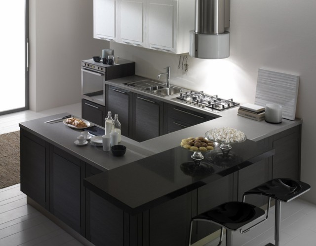 Cocinas modernas en color gris colores en casa for Cocinas muy modernas