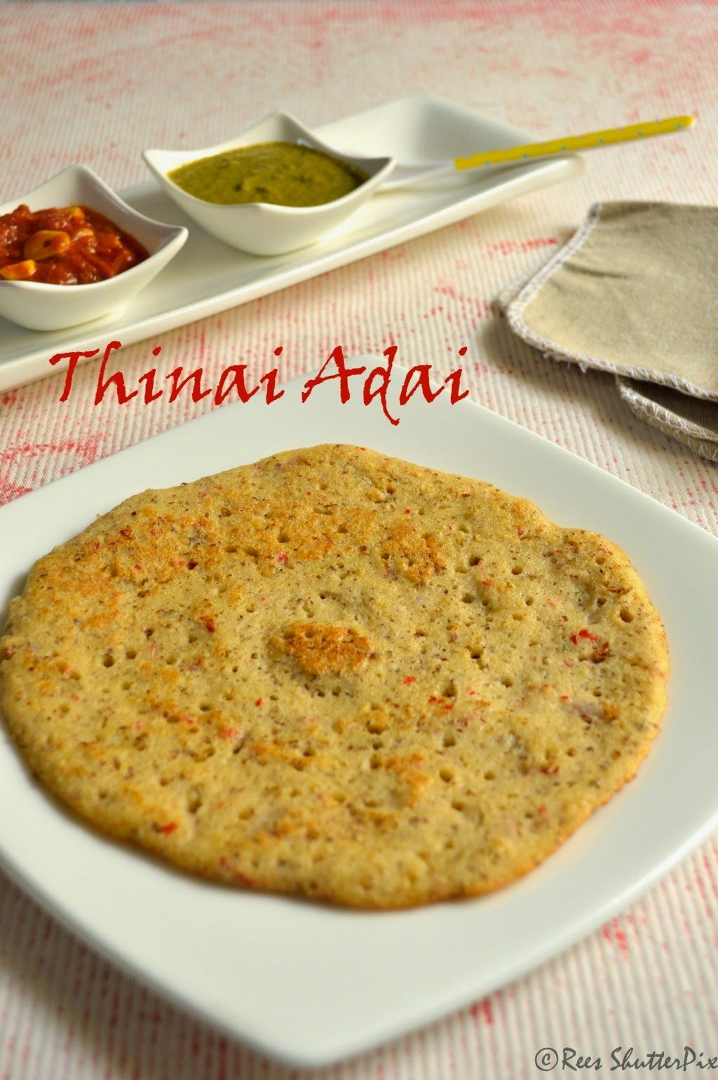 thinai adai dosa, how to make millet dosa adai recipe