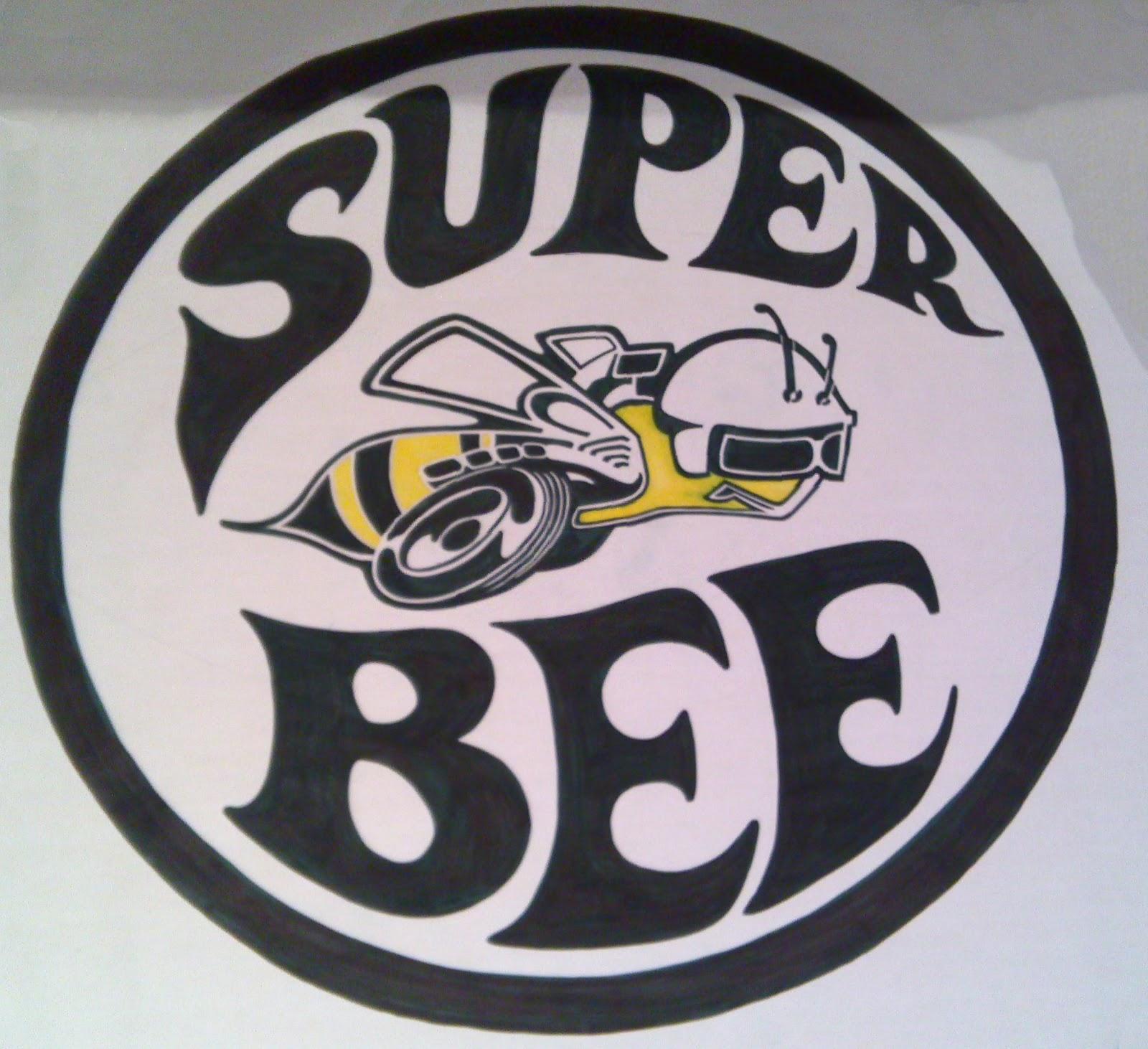 Super bee logo orange