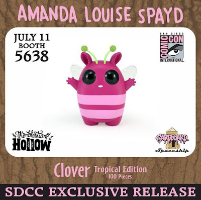 "San Diego Comic-Con 2015 Exclusive ""Tropical"" Clover Vinyl Figure by Amanda Louise Spayd"