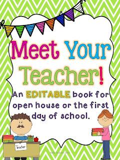Preschool meet the teacher letter template just bcause for Preschool open house ideas