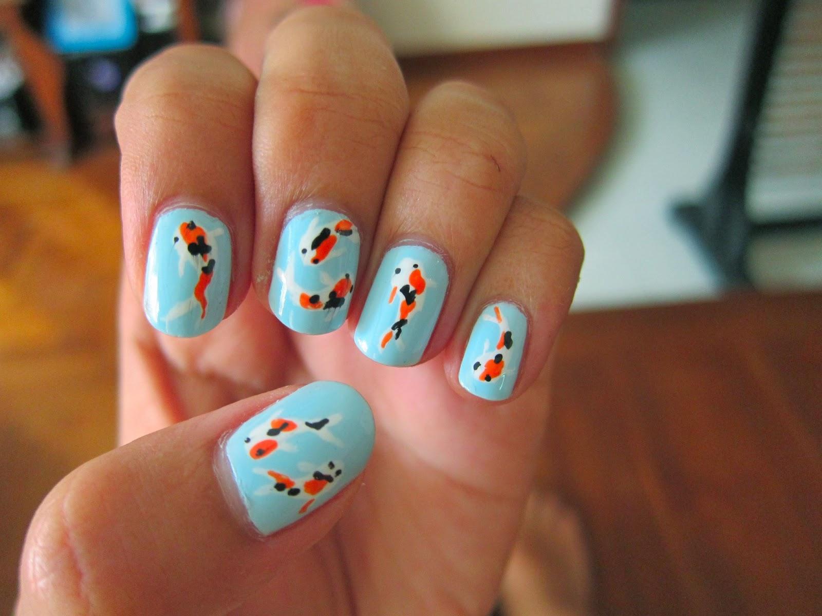 Koi Fish Nail Art