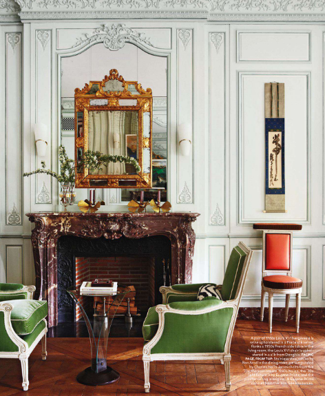 Splendid sass robert couturier design on fifth avenue for Living room in french language