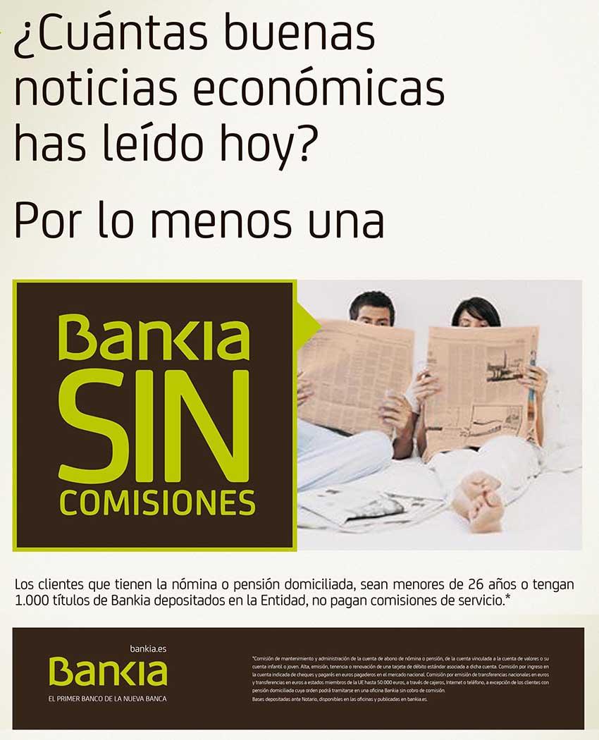 cuenta sin comisiones bankia