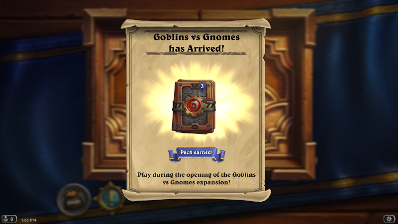 Free GvG Packs by Blizzard