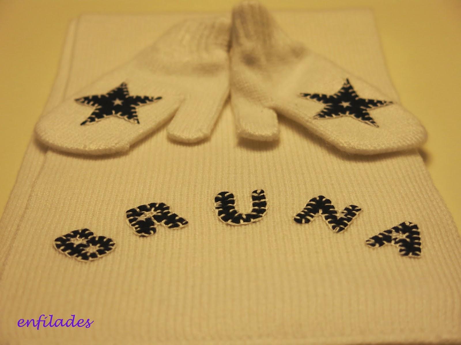 bufanda personalitzada - enfilades