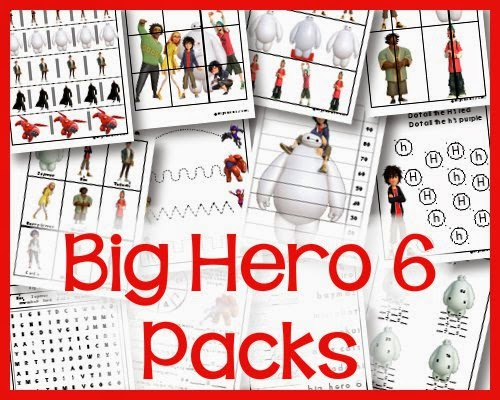 BIG HERO 6 – Happy Thanksgiving & New Activity Sheets Now Available!!!
