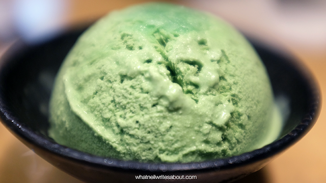 Neil Writes About Ramen Iroha's Tokyo Ramen Show winning Ramen Green Tea Ice Cream