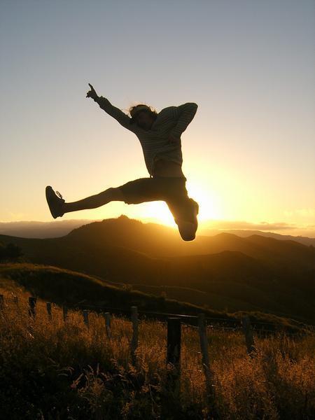 A Lame Man Jump For Joy 63