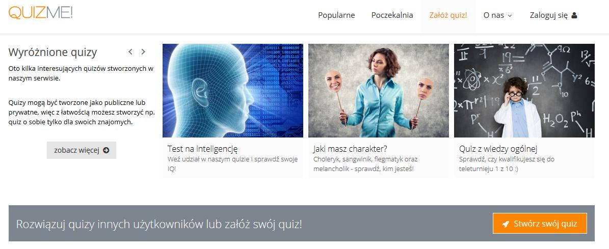 Quizme.pl - najlepsza strona z quizami!