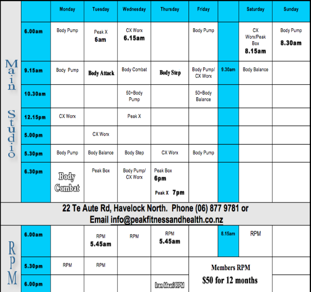 Fitness first timetable 2
