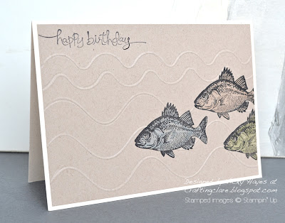 Card using By the Tide from Stampin' Up
