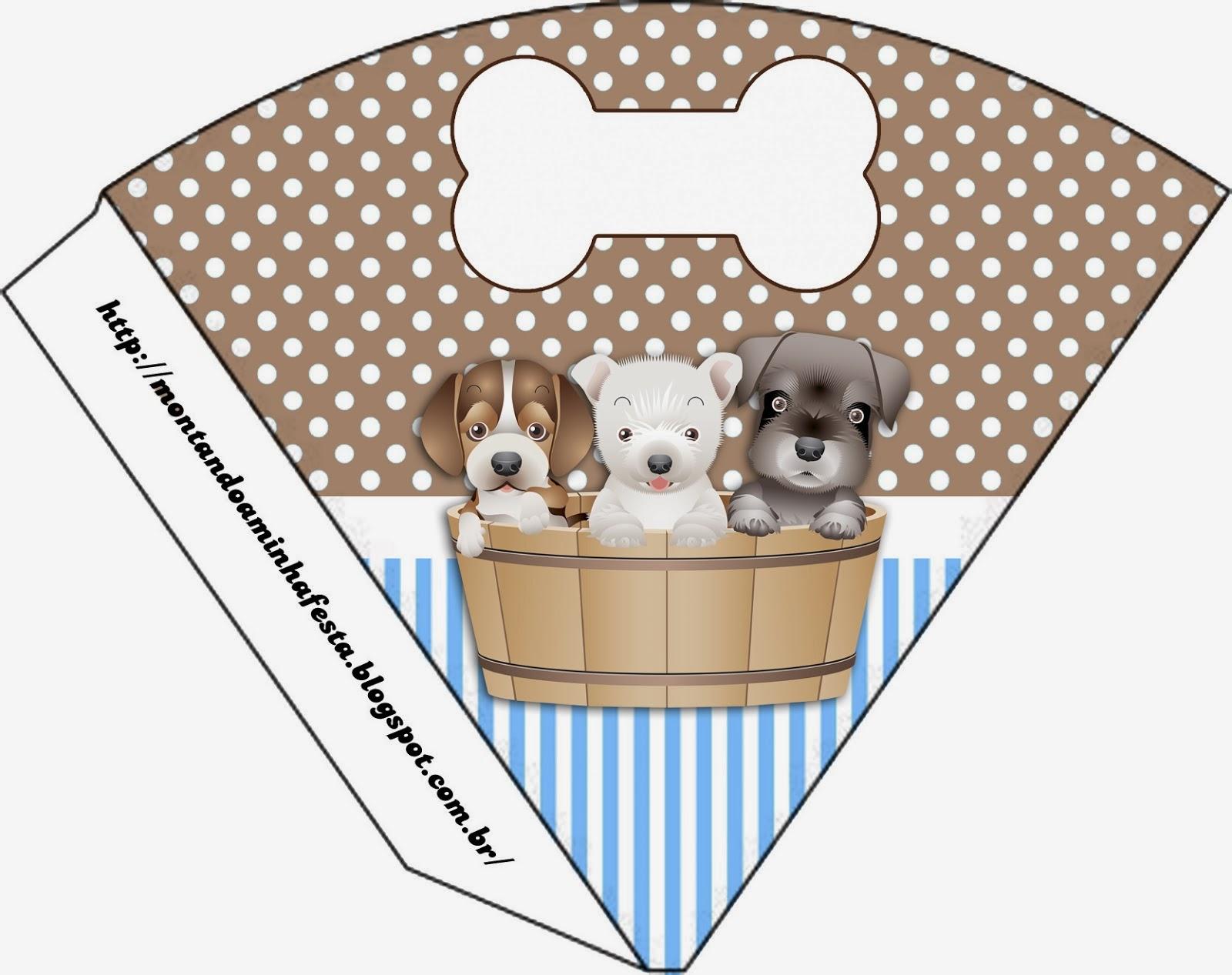 Perritos: Imprimibles e invitaciones para Imprimir Gratis. | Ideas ...