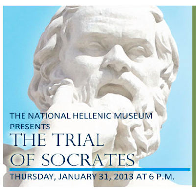 screen shot of NHM's ad for Trial of Socrates