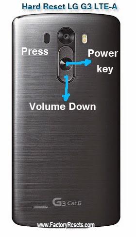 Hard Reset LG G3 LTE-A ,LG F460, LG G3 Prime