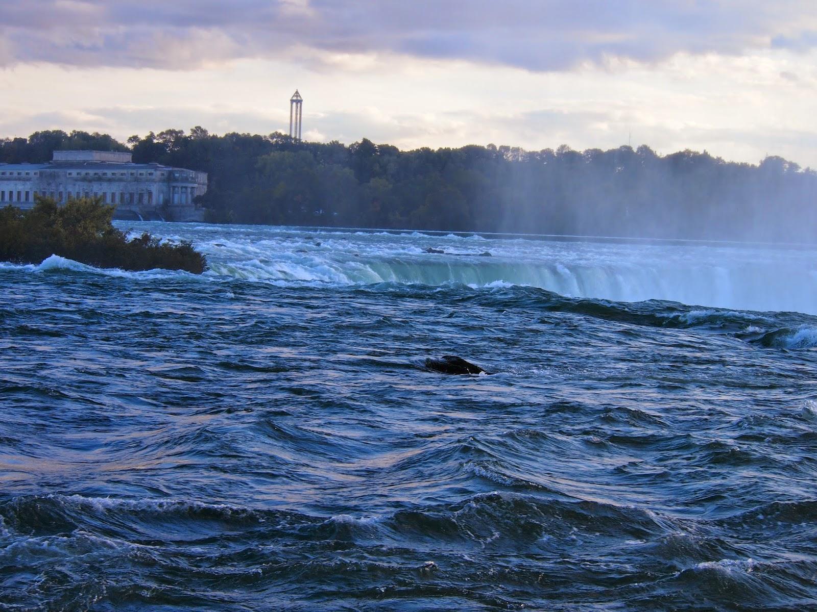 アメリカ側からのナイアガラの滝:上部