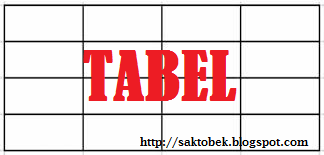 Cara Membuat Tabel Dalam Posting