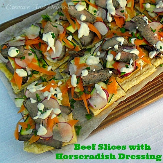 Beef Slices with Horseradish Dressing ~ delicious #Appetizer Or #LightDinner