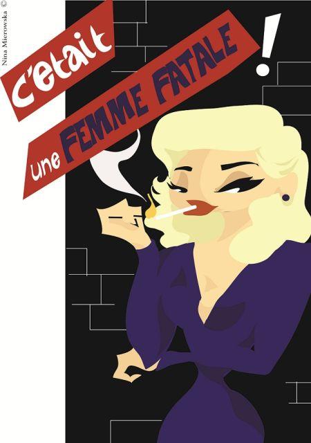 Nina Mierowska ilustrações pin-ups garotas caricatas sensuais mulheres Femme fatale
