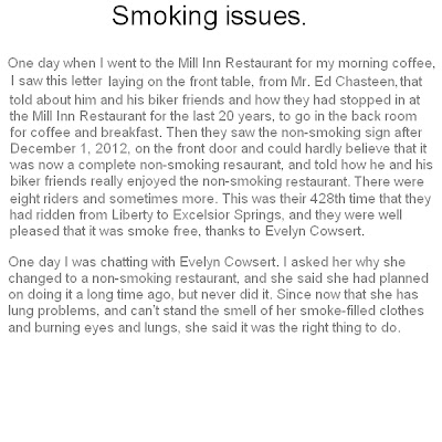 health issues from smoking