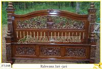 Tempat tidur ukiran kayu jati Rahwana Jari-jari