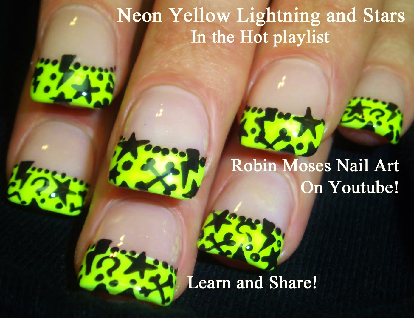 Neon Yellow Nail Designs