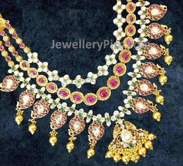 step necklace mango design pachi jewellery