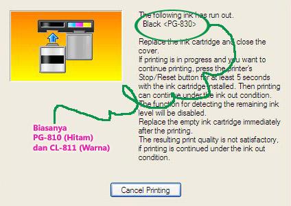 Cara reset low ink printer canon Pixma MP 237