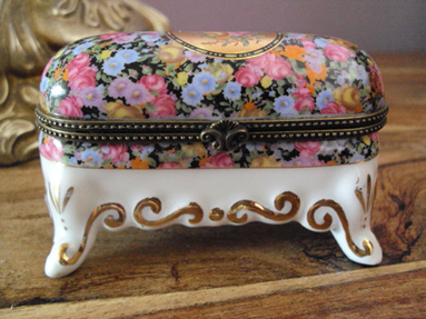 Porcelain Trinket Jewelry Display Boxes