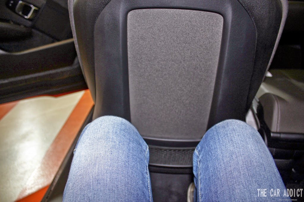 space sitting in the back of the bmw i3