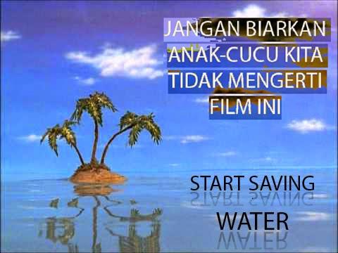 poster kampanye ajakan hemat air bersih