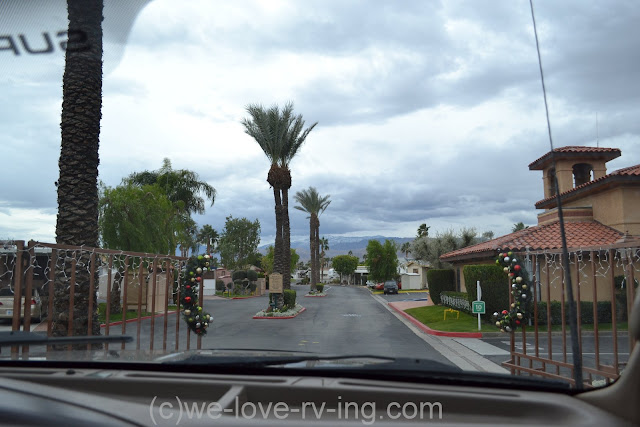 Gated entrance to the RV park