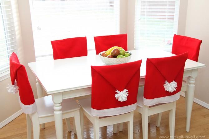 Decoracion De Noel ~ ATELIER CHERRY Capa natalina para cadeira