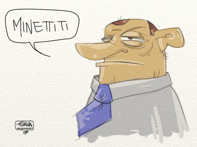 Minettiti Gava satira vignette dimettiti