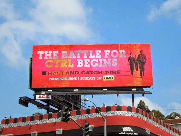 Halt and Catch Fire series launch billboard