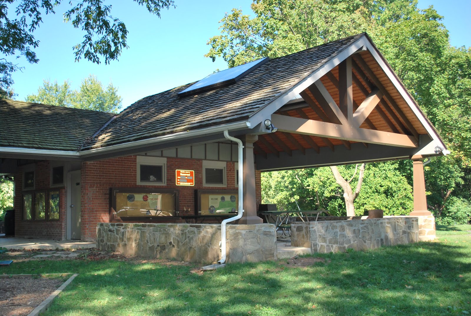Small Park Shelters : The next best thing potomac overlook regional park