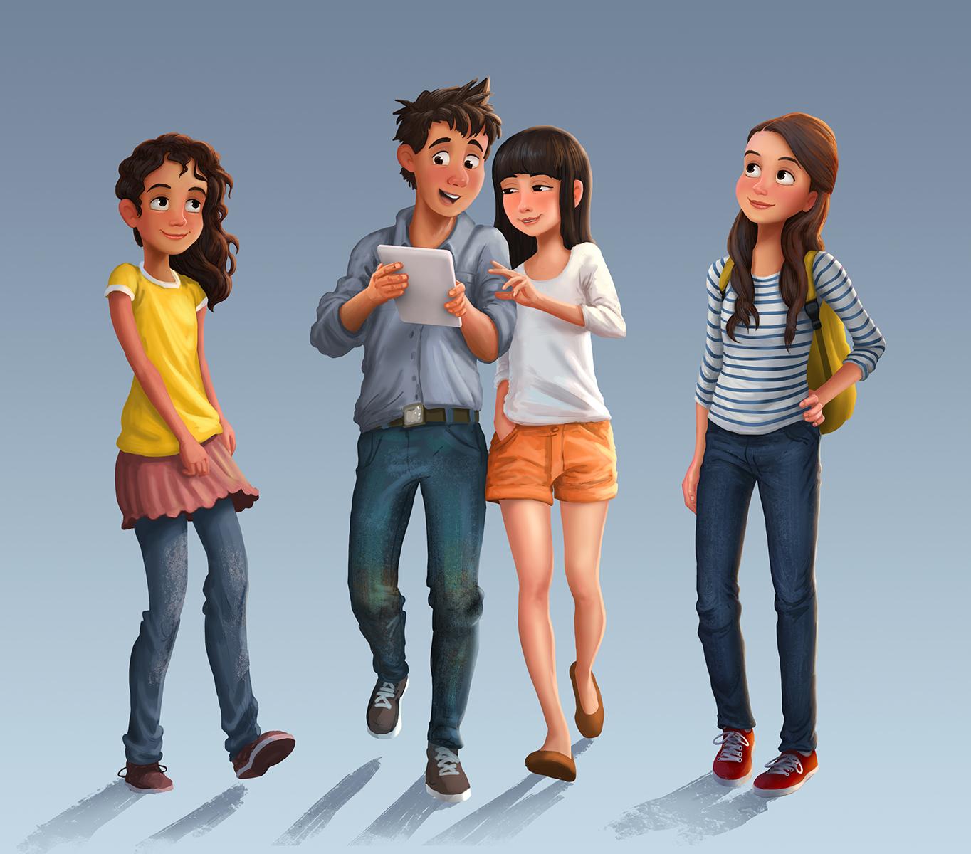 Erwin madrid blog illustrations of teens - Image of teen ...