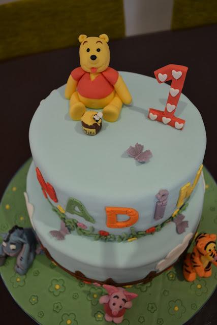 Tarta Fondant Tarta Fondant SugarDreams Gandia Winnie the Phoo y sus amigos cumpleaños Alcoy Ontinyent Xativa