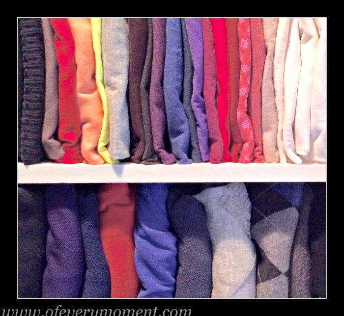 t-shirt storage, decluttering