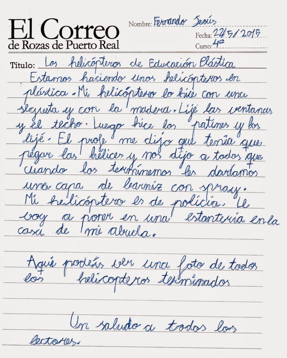 El Correo De Rozas De Puerto Real Los Helic Pteros
