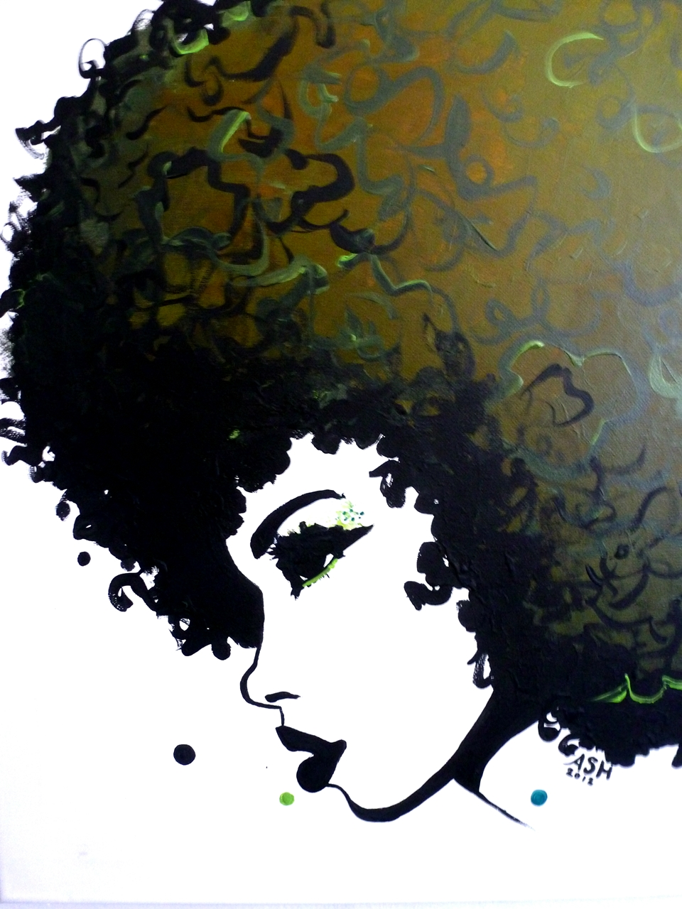 African american hair styling clip art