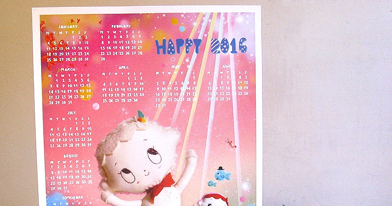 Self Made Calendar 2016 : Misako mimoko my calendar now on the shop black