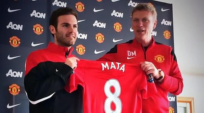 Juan Mata Pakai Nomer 8 di Manchester United