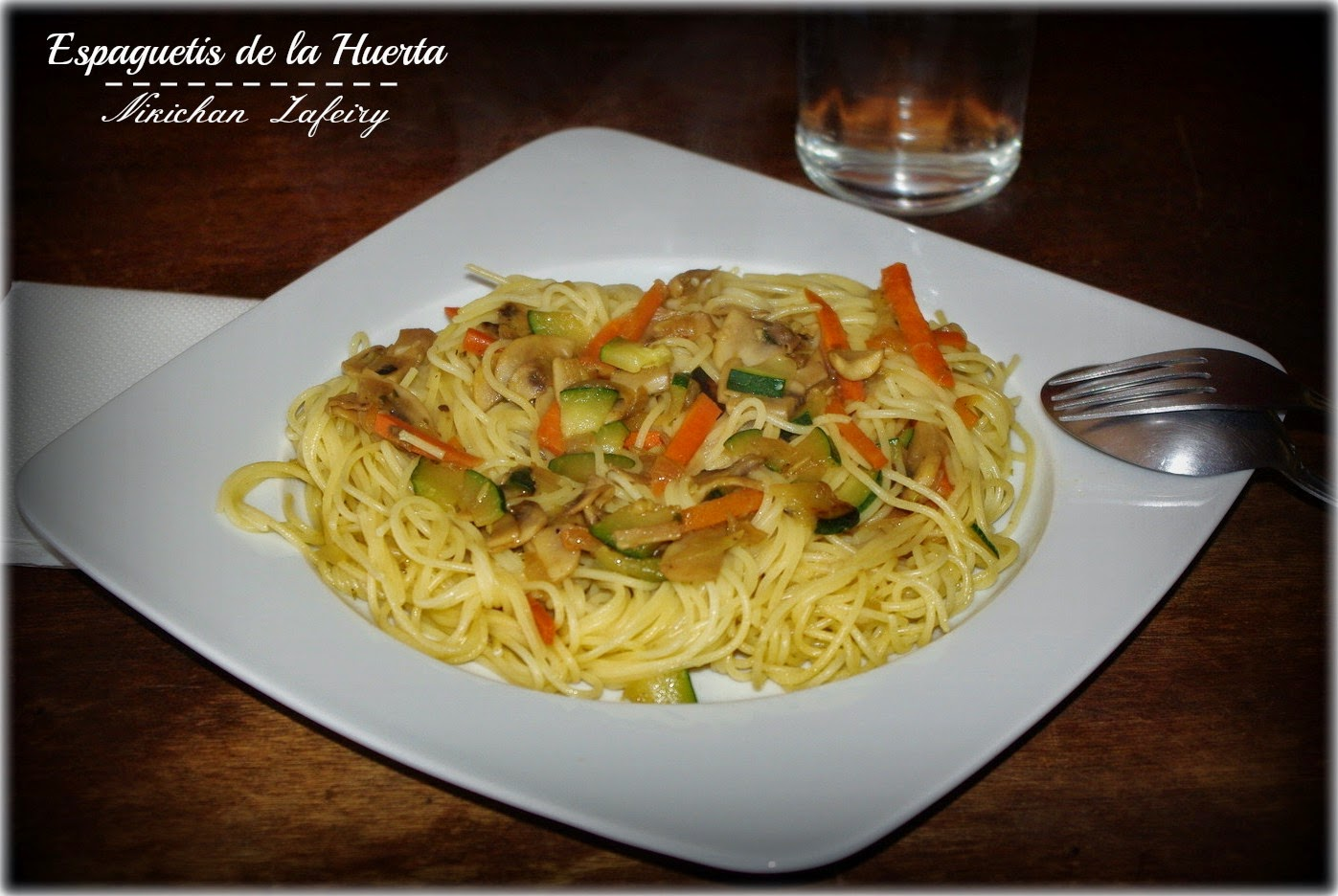 Espaguetis de la huerta dieta recetas de una gatita for Espaguetis para dos