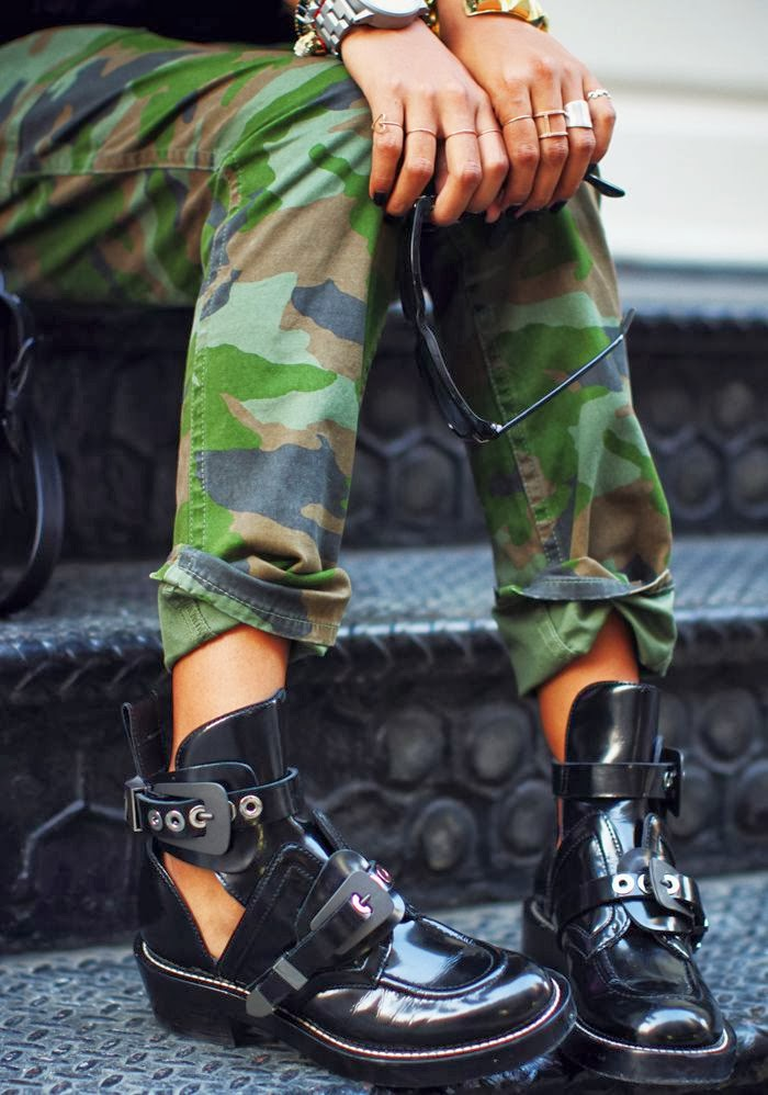 Cut Out Boots Front Row