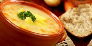 Sup Kentang Dengan Keju Cheddar