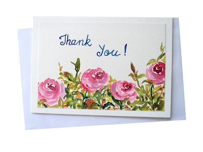 pinkroses,roseflowers,greetingcards,thankyoucards,thanks,thankyou,garden,floralart,typography,handwritten,cards,
